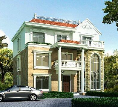 13x13m新款三层农村房屋设计图 经典三层自建房图纸 三层别墅