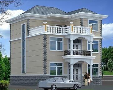 中式三层复式别墅设计图,占地156㎡,中高端别墅设计,含全套施工图