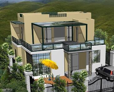 农村二层平房屋设计图图片   农村一层住宅房屋农村三间平房设计图