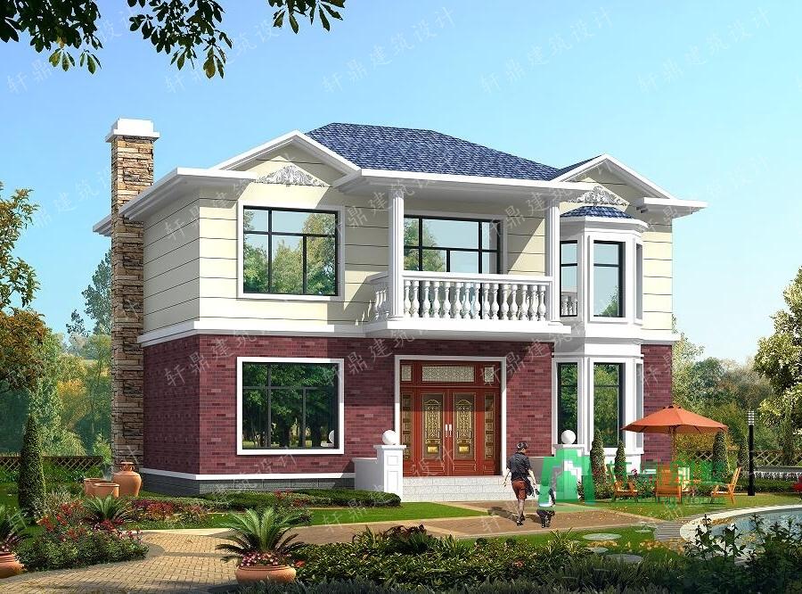 11x8米20万农村小别墅设计图 二层小别墅设计图 农村房屋设计图