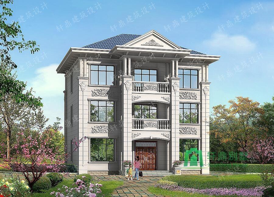首页 图纸大全 三层房屋图纸 占地161㎡三层中式别墅设计图,端庄大气