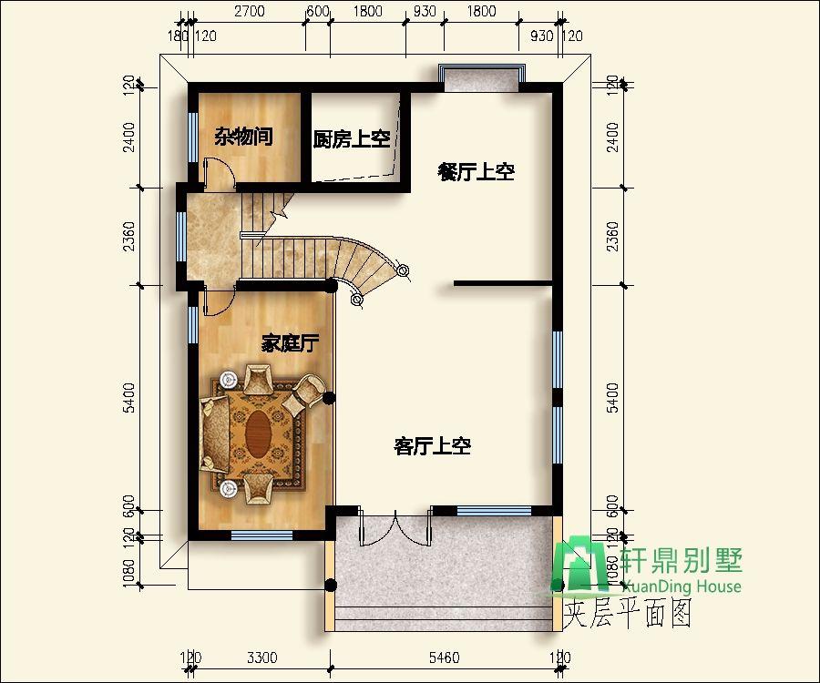 三层半实用小型自建房别墅设计图9x11米_农村郑州_27岁学室内设计图片