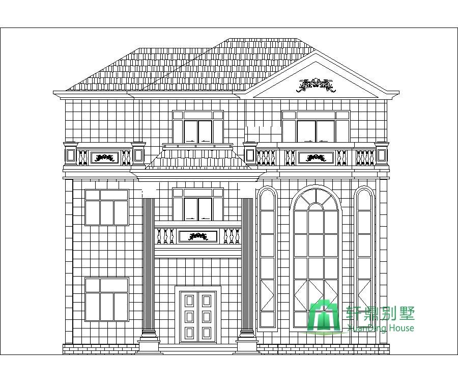 9x12.2米三层农村别墅设计图_建房子图纸_自建房_轩鼎房屋图纸网