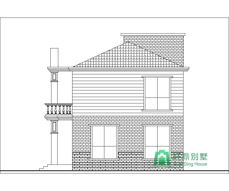 农村建房子设计图二层11.8x8米