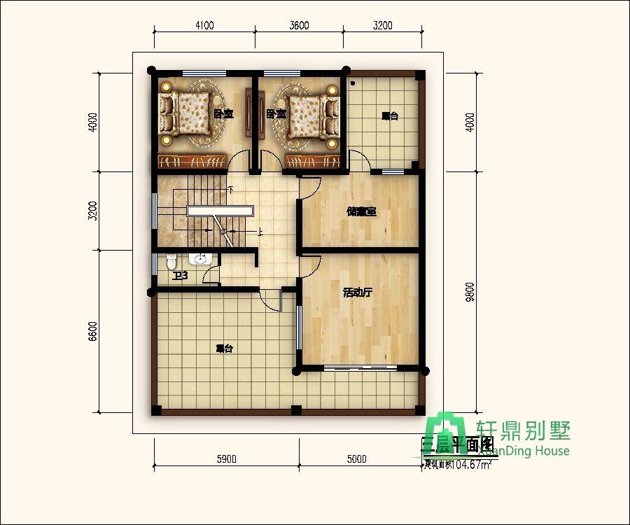 现代自建房设计图三层展示图片