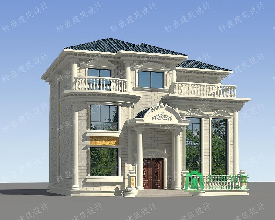 欧式高端三层复式别墅设计图,13.7m*12m