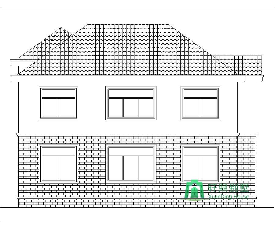 造價25萬復式二層簡單精致的小別墅設計圖,12m*10.6m經濟實用的自建房