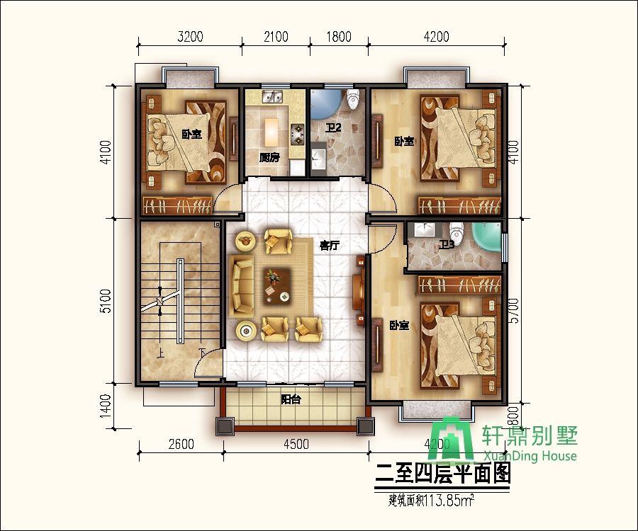 面宽11米,进深11米5层新中式自建别墅设计图,占地120平方米美观精致