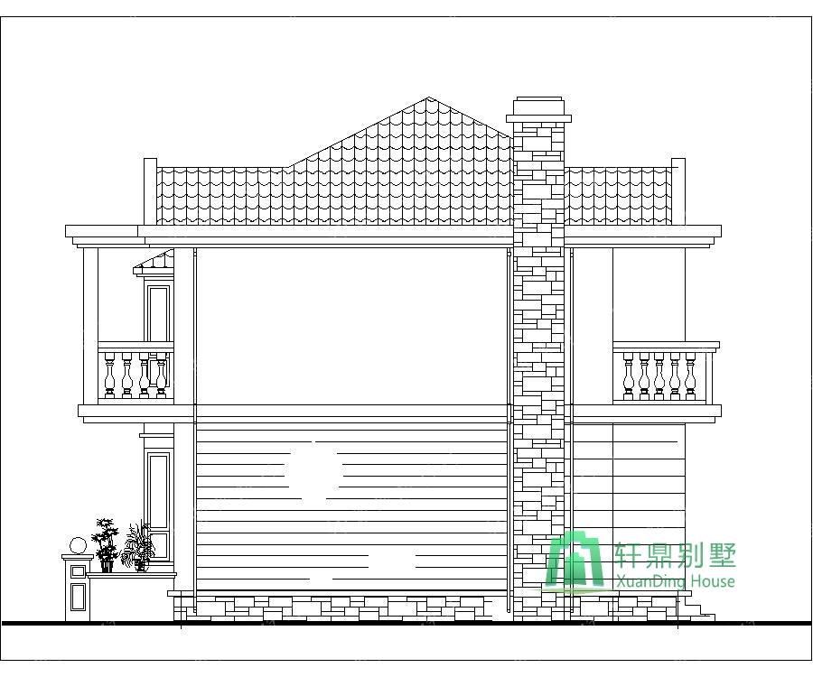 11x8米20万农村小别墅_二层小别墅设计图_农村房屋设计图