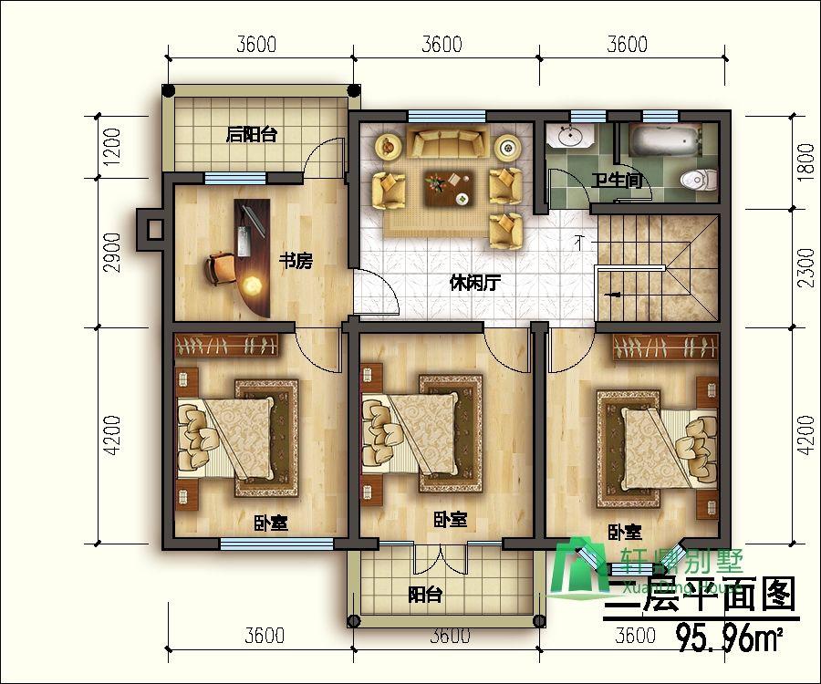 11x8米20万农村小别墅设计图_二层小别墅设计图_农村房屋设计图图片