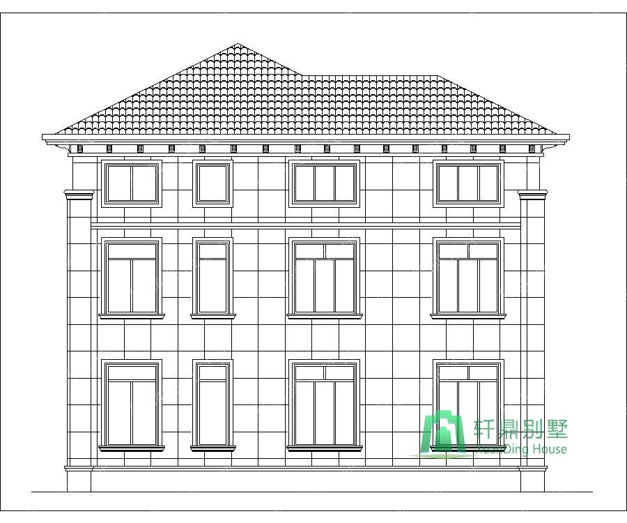 中式三层自建别墅设计图,房间较多,适合大家族居住