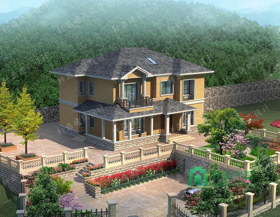 二层房屋图纸 田园风格复式小别墅设计图,简单温馨的农家小院  给排水