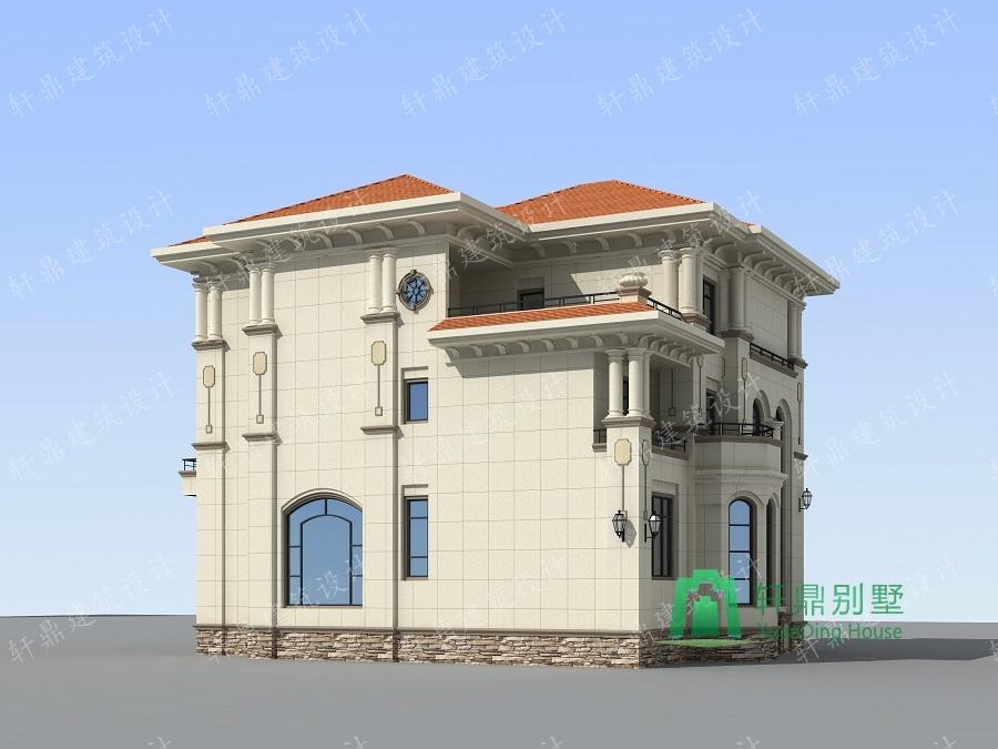 欧式高端三层复式别墅设计图,带有地下室