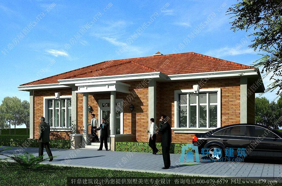 16x9米农村一层别墅设计图_农村一层自建房设计图 - 轩鼎房屋图纸图片