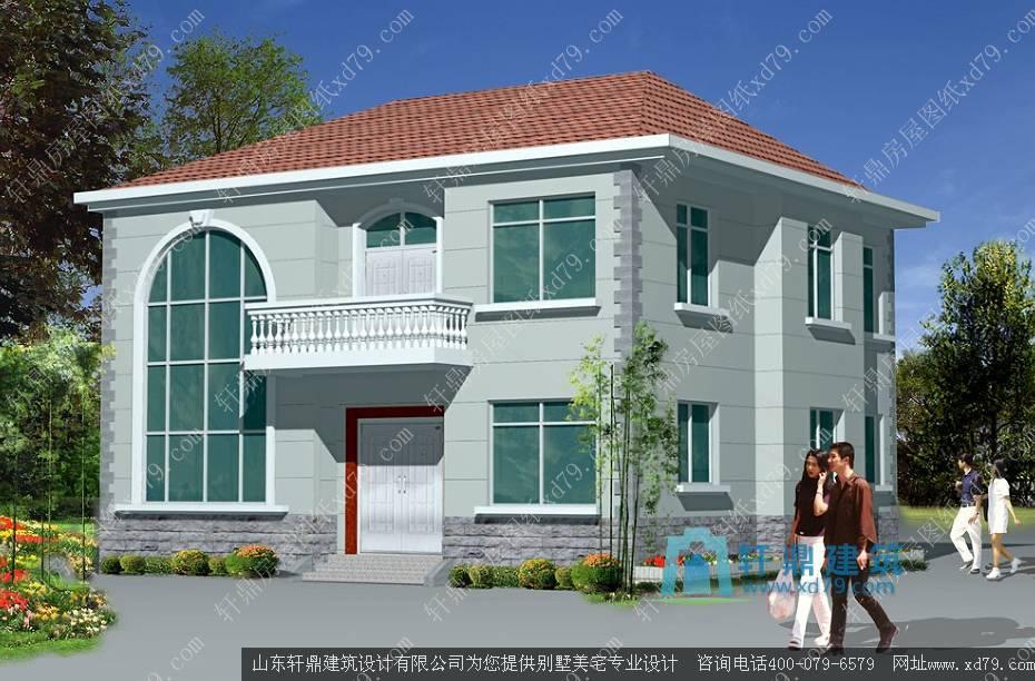 113x110米二层农村房子设计图简单二层楼房造价15万左右农村二层房屋