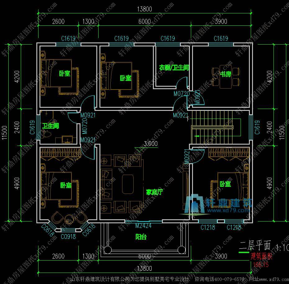 5m漂亮精致的二层农村小别墅_布局实用的二层自建房设计图 - 轩鼎房屋图片