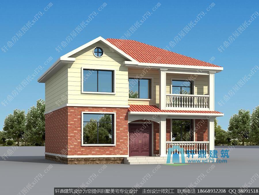 新款农村房屋设计图_11x10米二层农村带阳台农村小别墅图片