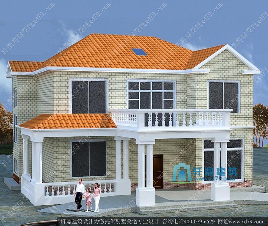 农村房屋设计效果图 农村二层楼房效果图和设计图图片