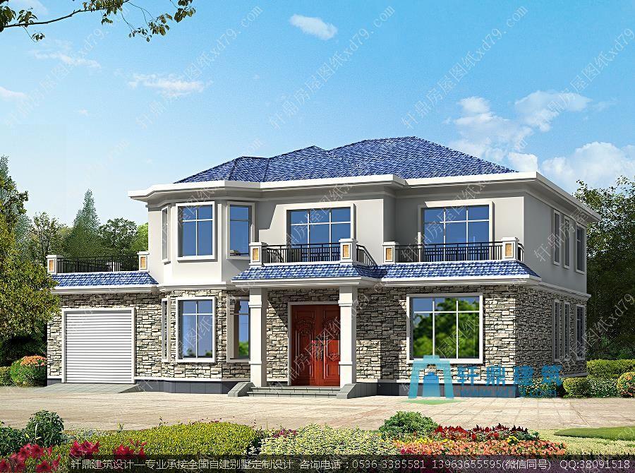 农村小别墅设计图 二层别墅设计图 小别墅设计