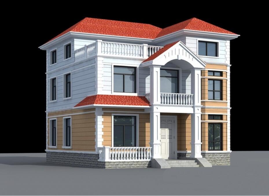 农村房间设计_8.6x10.0米三层新农村房屋设计图_新款别墅设计图_自建房设计图 ...