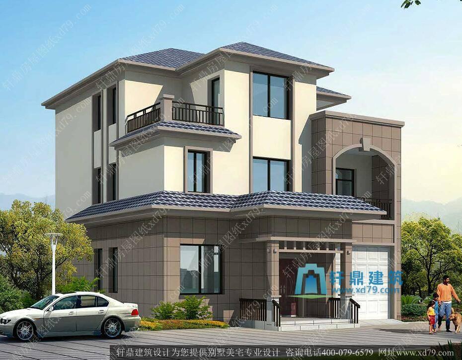 9.9x13.1业主普遍喜欢的三层自建房设计图 很受欢迎的一套三层小别墅设计